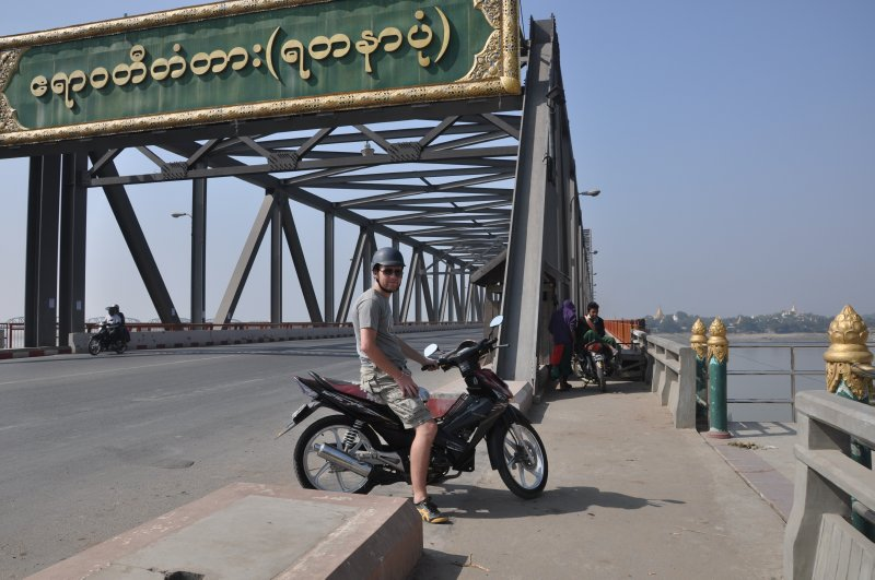 Crossing the bridge to Sagiang
