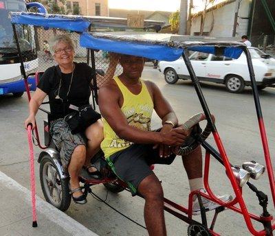 In My Santa Clara Pedicab