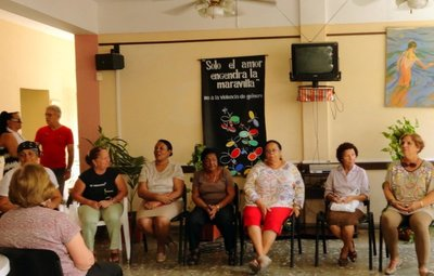 A Chit Chat in a Community Center