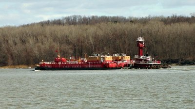 Barges and Tug on the Hudson