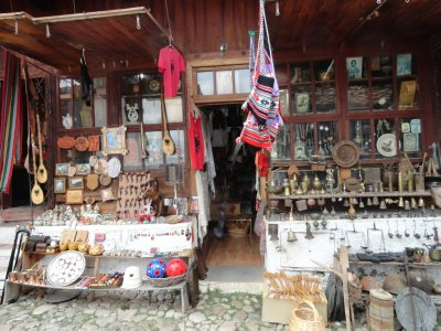 Bazaar shop in Kruja