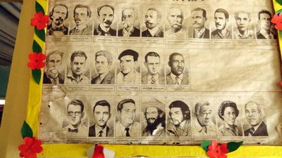 School Bulletin Board with National Heroes