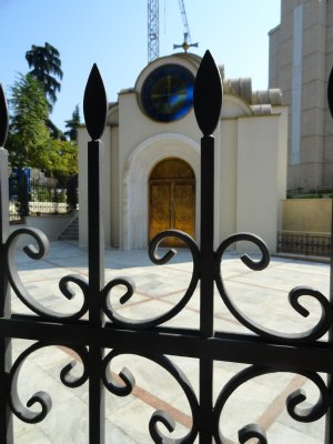 Chapel through the gate