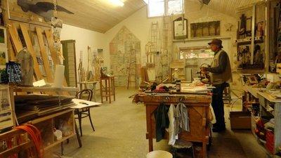 Charlie Brouwer in His Studio