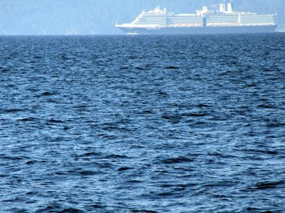 Cruise Ship across the Strait