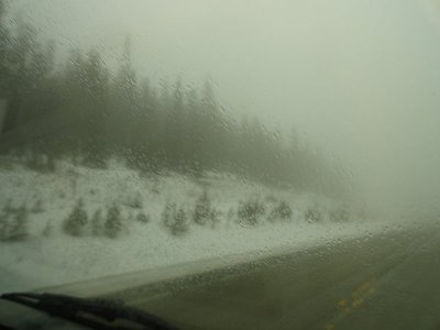 Driving on Powder River Pass
