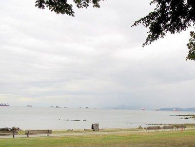 English Bay Beach on a Rainy Day
