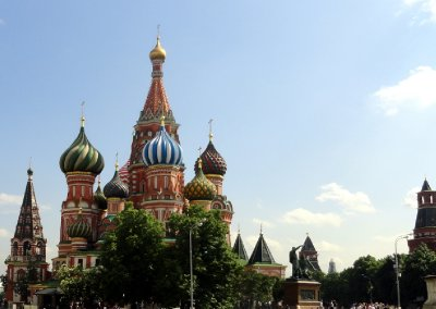 First View of St Basil Cathedral