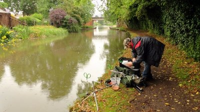 Fisherman on the Grand Union Canal