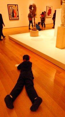 Future Artist Sketching at MoMA