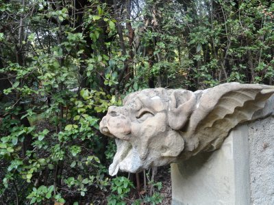 Gargoyles along the hill path