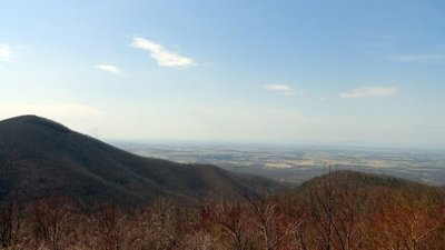 Hawksbill Mountain Over the Shenandoah Valley