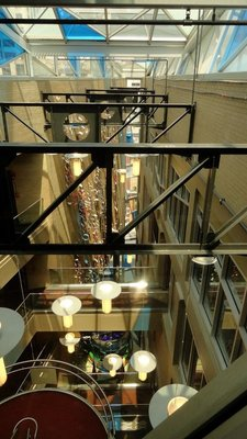 Looking Down from the Top of the Atrium
