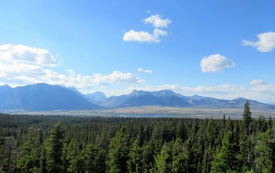 Looking Towards Waterton Lakes National<br /> Park