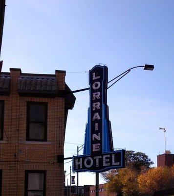 Lorraine Hotel Sign