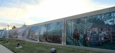 Murals on the Vicksburg Levee