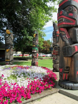 Over 30 Totems throughout Duncan