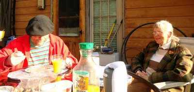 Palladin and Donna at Breakfast