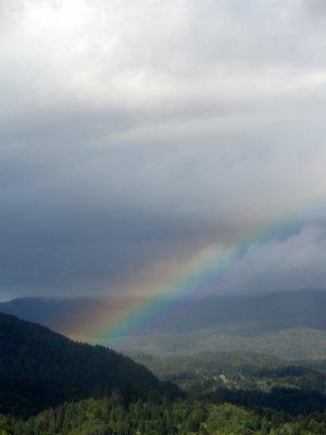 Rainbow over Bled
