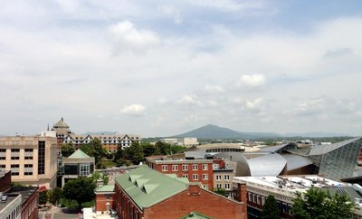 Roanoke Hotel and Taubman from the Rooftop
