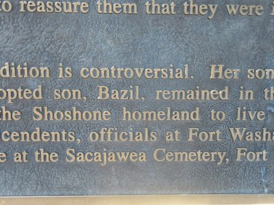 Sacajawea Had a Son Named Bazil