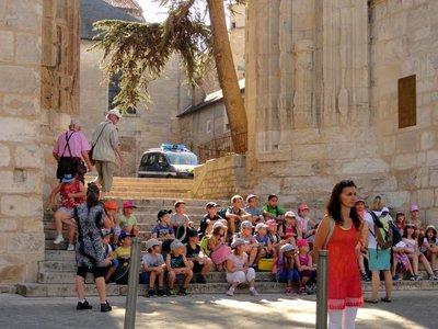 School Children on a History Tour