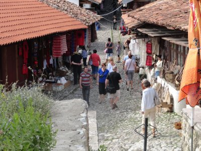 Shoppers at the Kruja bazaar