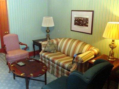 Sitting Room in Rochester Inn Suite