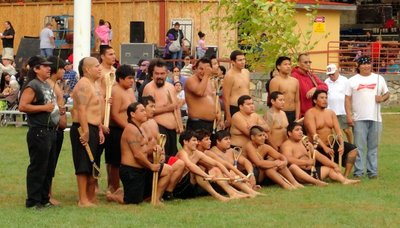 Stickball Champs Play and Pose in Falling Rain