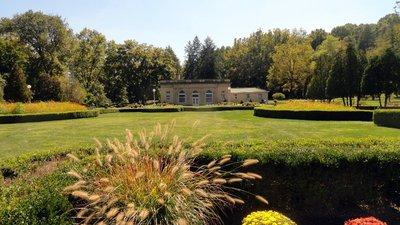 Sunken Garden in Fall Season West Baden