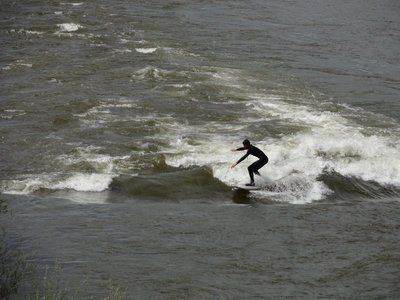 Surfing in the River