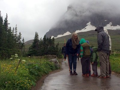 Talking with Young Hikers