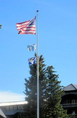 Three Flags Over Glacier