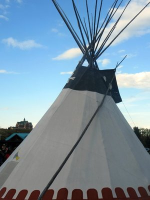 Tipi and Prince of Wales Lodge