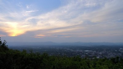 View of Roanoke from Below the Star