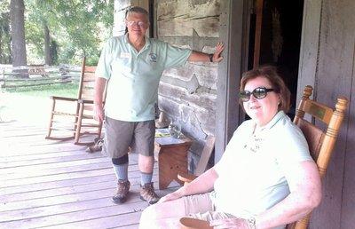Volunteers at the GR Clark Cabin