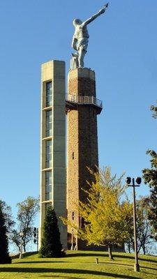 Vulcan Tower Over Birmingham