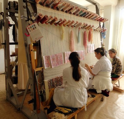 Weaving a Silk Rug