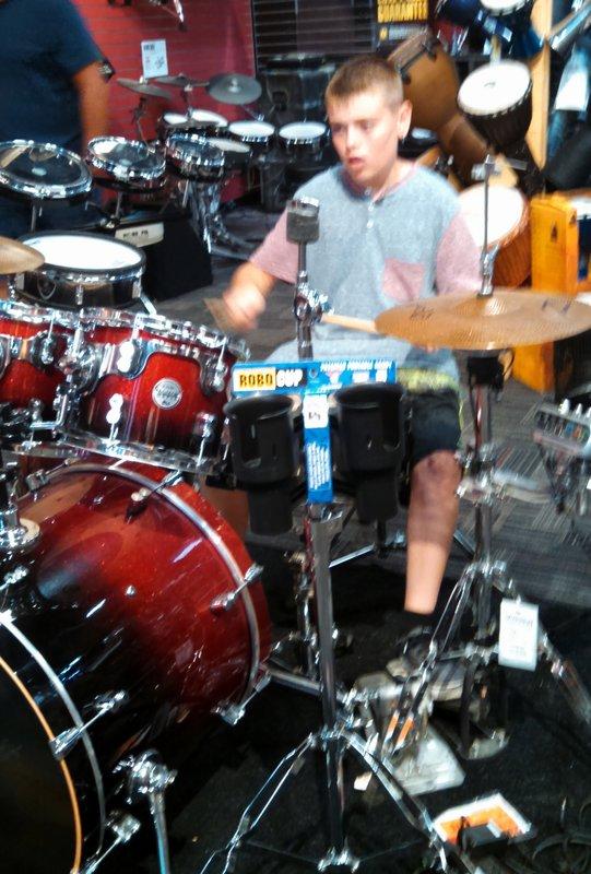 Drumming in Burbank