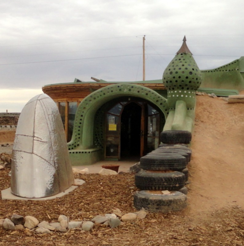 Earthship Visitor Center Entry