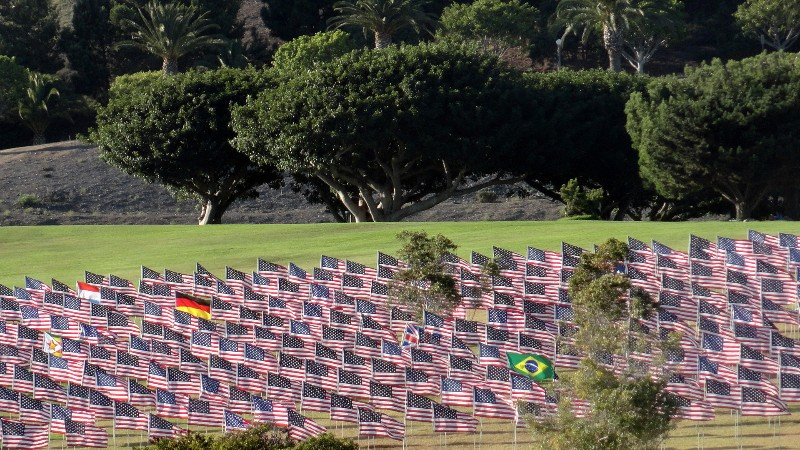 Flags at Pepperdine