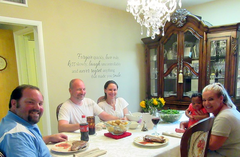 Hanrahan Panek Family at Dinner