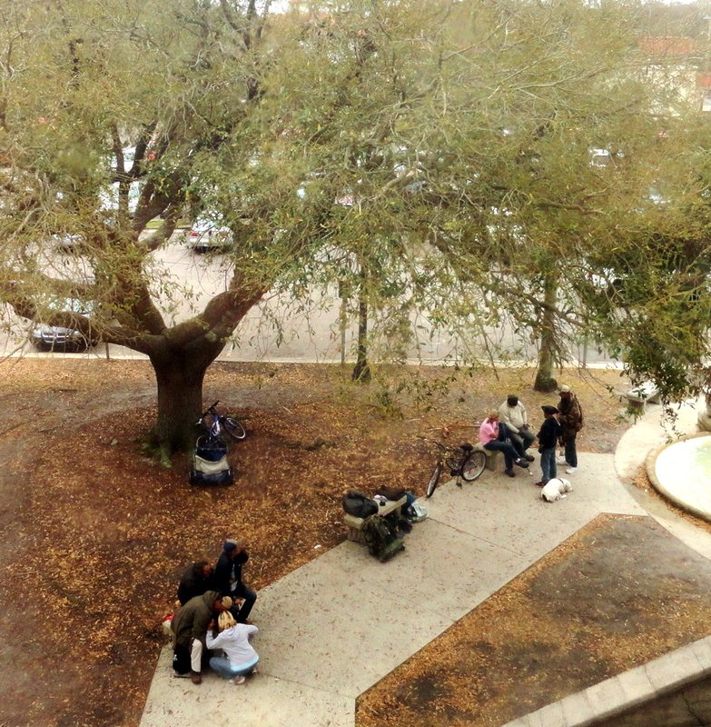 Homeless Drug Users on the Museum Plaza