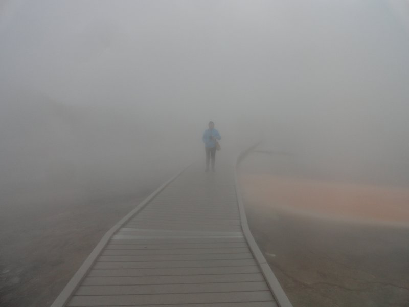On the Boardwalk through the Geysers