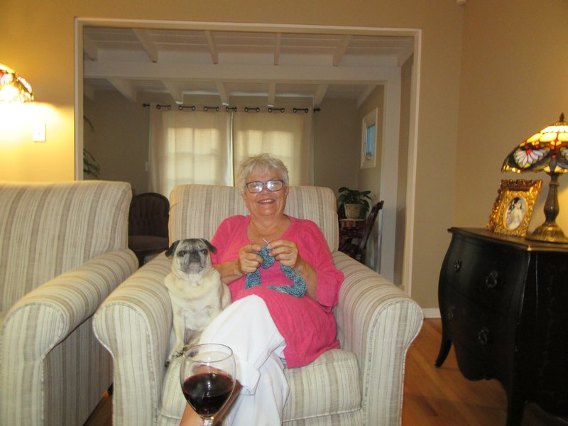 Paula and Grandpuppy Relaxing