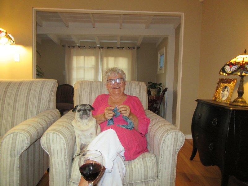 Paula and Grandpuppy Relaxing