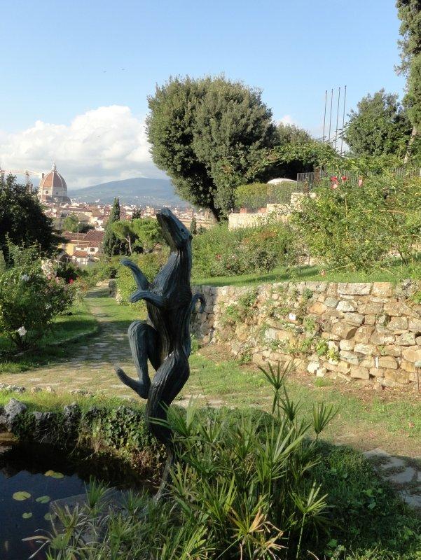 Statue in Rose Garden 1
