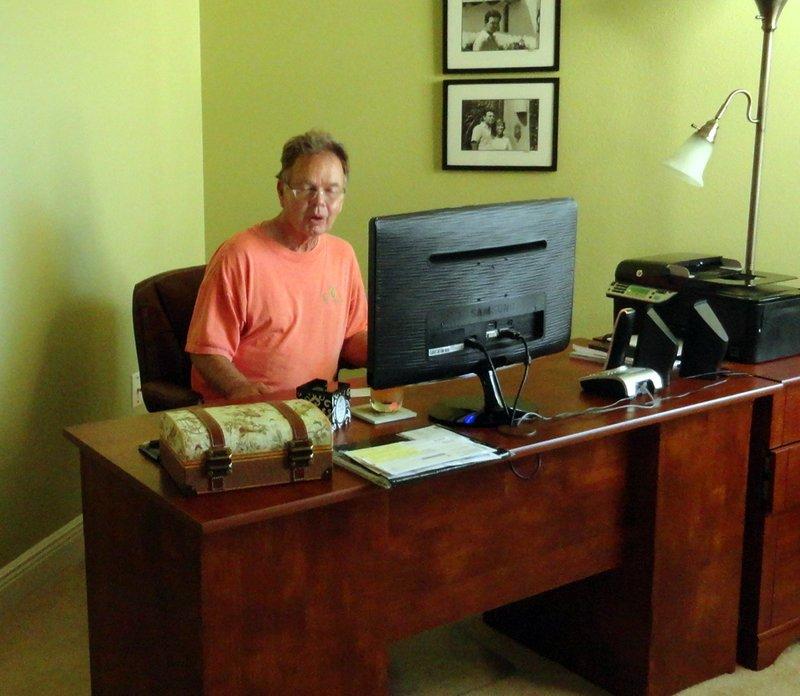 Still at His Desk