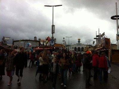 Cold, Rainy Start at Oktoberfest