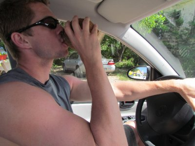 Coconut Juice and Driving . . . Dangerous?  You decide